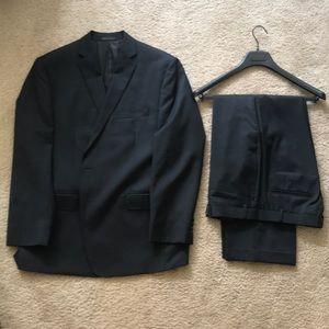 Gently Worn Calvin Klein Pinstripe Suit - Slim Fit